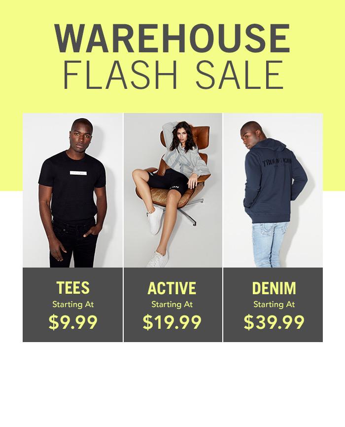 Warehouse Flash Sale.