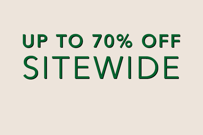 Up to 75% Off Sitewide
