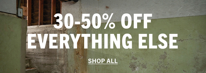 30-50% off everything else.