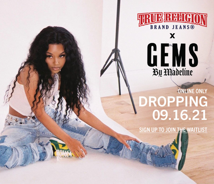 True Religion collab with GEMS By Madeline.