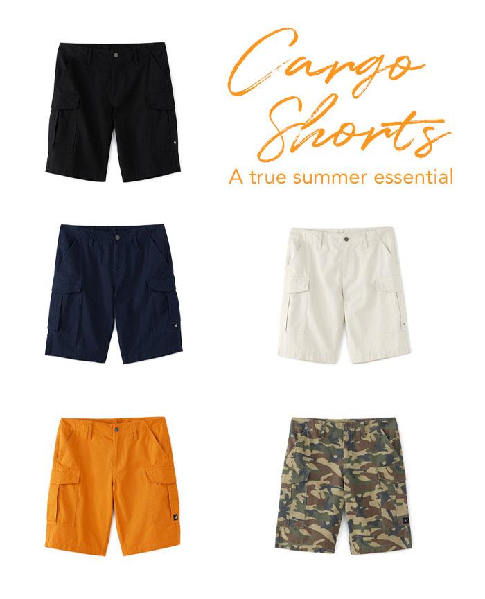 Cargo Shorts. A true summer essential.