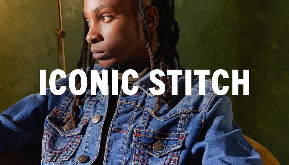 Mens Iconic Stitch Denim.