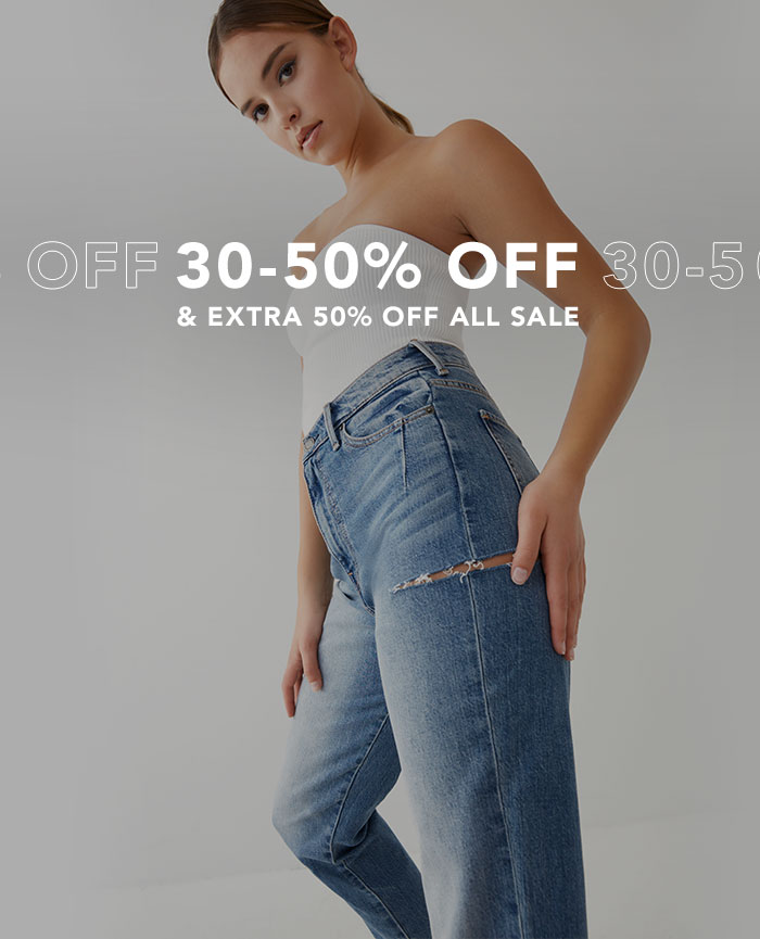 30-50% Off. And extra 50% off all sale.