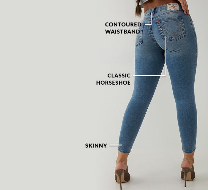 Womens Denim Fit Curvy Skinny