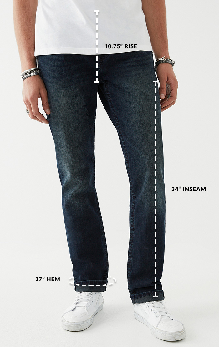 Mens Straight Front Waist Down