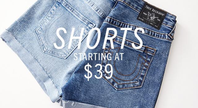 Shorts starting at $39.