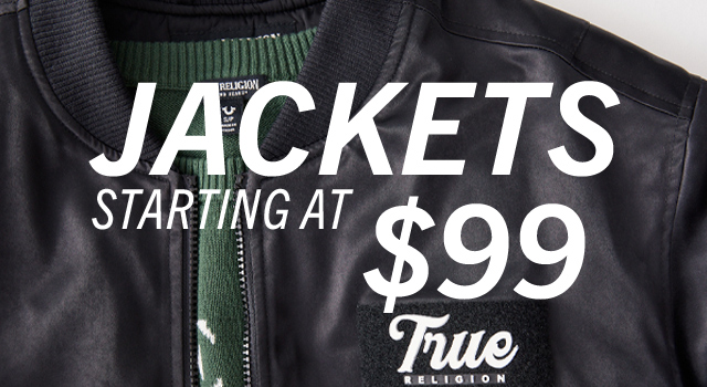 Outerwear starting at $99.
