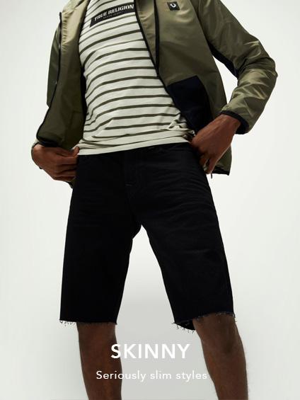 Mens Skinny Shorts.