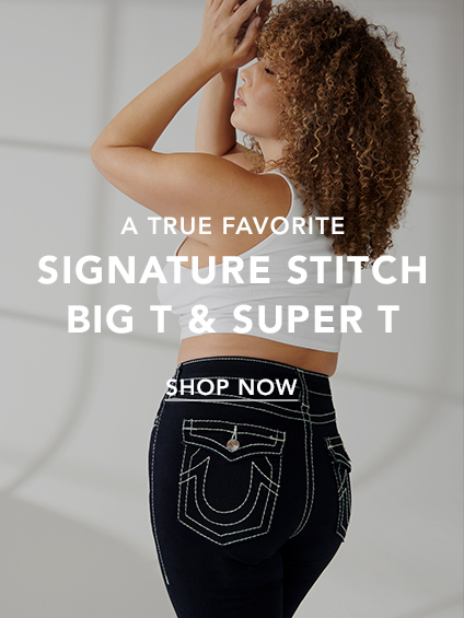 Womens Signature stitch, big T and super T.
