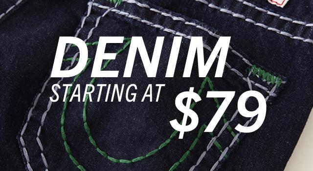 Denim starting at $79.