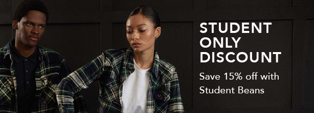 Student only discount. Save 15% off with Student Beans.
